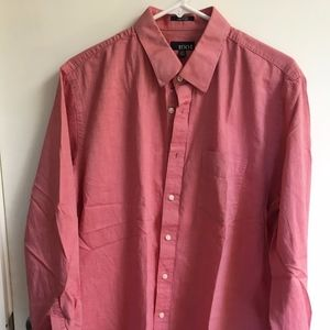 Men's Reddish/Pink Casual Dress Shirt sz 16 34/35